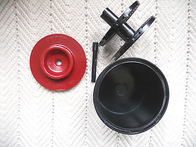 Vintage Bakelite FEDCO USA photography developing tank and Reel Set