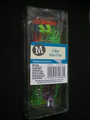 Brand New Pack of 45 'Coloured Mini Pegs'