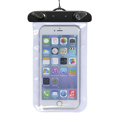 Waterproof Cell Phone Pouch Underwater Dry Bag Case Cover For ALL phones White
