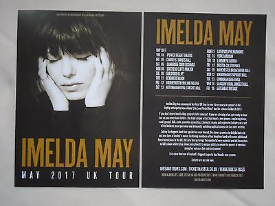 "IMELDA MAY Live ""Life Love Flesh Blood"" 2017 UK Tour Promotional tour flyers x 2"