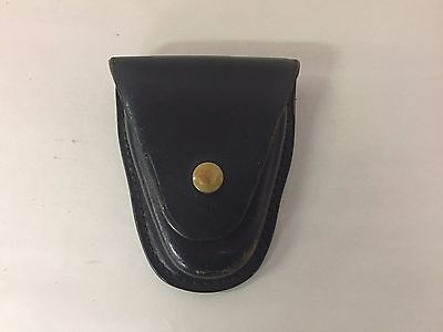 Vintage Brauer Bros Mfg St. Louis MO Black Leather Handcuff Pouch (#1)