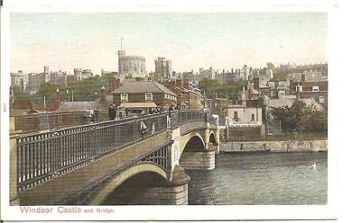 Lovely Early Vintage Postcard,windsor Castle,and The Bridge,berkshire