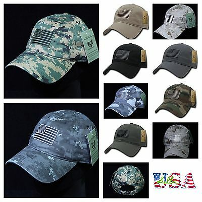 Baseball Cap USA US Flag Army Military Hunting Tactical Hiking Camo LICENSED Hat