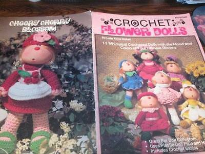 Crochet Flower Dolls-Leta Anne Nolan-11 Designs With Flower Colors