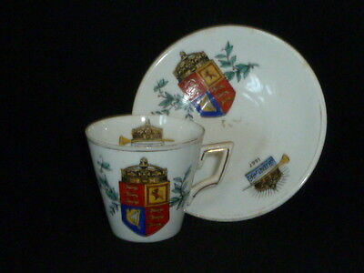 Rare Antique Queen Victoria Diamond Jubilee Hand Painted Cup & Saucer, 1897