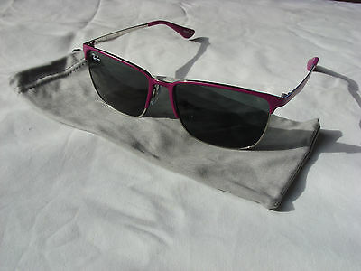 New Auth Ray Ban Jr Girls Kids Sunglasses Fuchsia Wayfarer Rj 9535S 247/87 Pouch