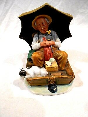 """Norman Rockwell """"Fishing"""" Figurine-Limited Edition"""