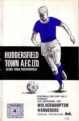 HUDDERSFIELD v WOLVES 1967/68 LEAGUE CUP