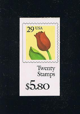 US BK185 (1991) - Flower - Tulip Booklet Issue - Plate #K1111