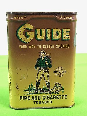 Vintage Vertical GUIDE Pipe and Cigarette Tobacco/ Roto Cut/ Pocket Tin