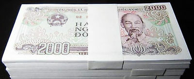 Vietnam 2000 Dong Banknote papermoney Full Bundle 100PCS 1988P107  UNC  Lot Pack