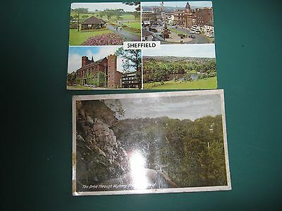 Vintage Postcards - 2 views of Sheffield - undated and one dated 1923