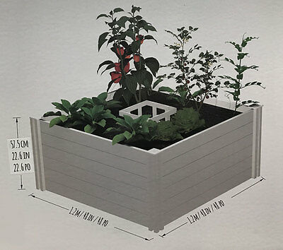 NEW Keyhold 4ft x 4ft White Raised Garden Bed & Composter Gardening & Composting