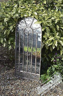 Large Wall Mirror Scroll Frost Proof Garden Outdoor 4Ft3 X 2Ft (130cm X 61cm)