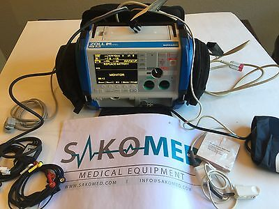 ZOLL M Series BiPhasic 12-lead, Pacing, AED, SpO2, NIBP and ETCo2/ TESTED