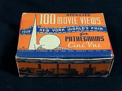 New York 1939 World's Fair Pathegrams Cine View Souvenir Movie Views w/ Box #101