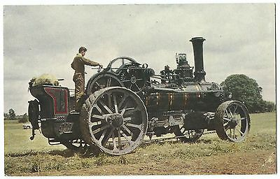 Fowler Ploughing Engine, NR 1212, Built 1886 PPC Unposted, By J Salmon