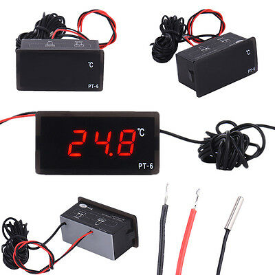 Car Mini Digital LCD Display Indoor Outdoor Temperature Meter Thermometer ℃ 12V