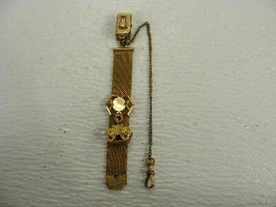 fancy antique victorian watch chain fob with initials ED monogram engraved.