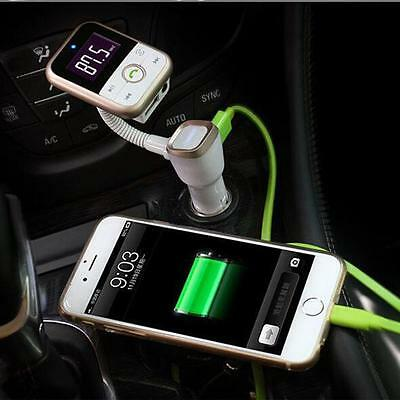 LCD Car Bluetooth MP3 Player SD USB Remote FM Transmitter Modulator For iPhone