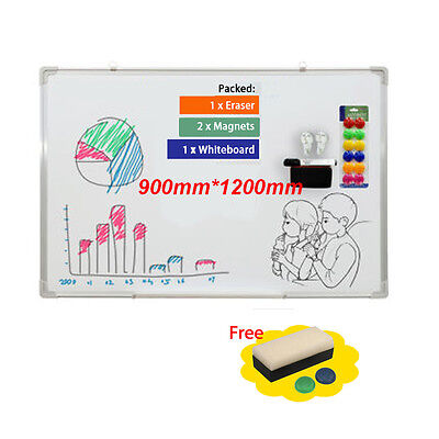 Magnetic Dry Whiteboard White Notice Memo Board Office Meeting School 900*1200