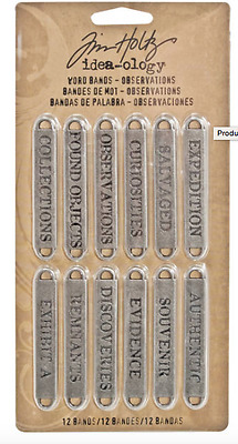 Tim Holtz idea-ology Word Bands - Observations - TH93084 - NEW