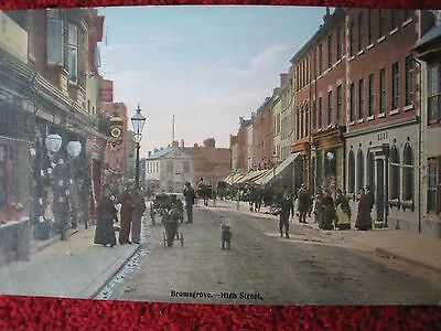 Worcestershire:   Bromsgrove - High Street.   Posted 1905.   A 'messenger' Card