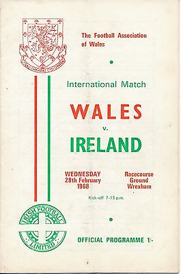 Wales v Northern Ireland (Home International @ Wrexham) 1968
