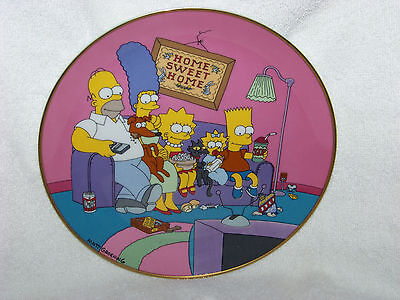 """The Simpson's """"A Family For The 90's"""" Collectible Plate"""
