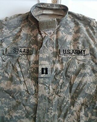 US Military ACU ARMY Digital Camo Fatigue Combat Jacket Shirt Medium Regular