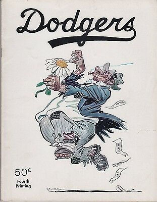 Brooklyn Dodgers 1951 Yearbook Jackie Robinson Reese Campy Snider EX/MT 48 pages