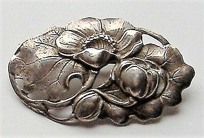 Bond Boyd Early 1940S Brooch Stamped Sterling Art Nouveau Style