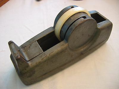 Very Vintage Large Heavy 3 M SCOTCH TAPE DISPENSER w/ Tape
