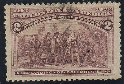US SC # 231 2c COLUMBIAN EXPOSITION 1893 USED LH VERY FINE