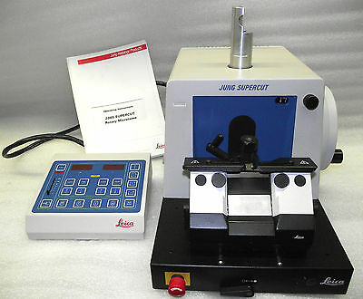 Beautiful!! Leica Jung Supercut 2065 Industrial Microtome/2 Knife Holders/ Wrty