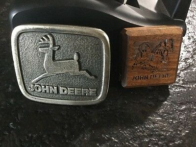 John Deere Commemorative belt buckle Construction Expo 1975+ Tape Measure