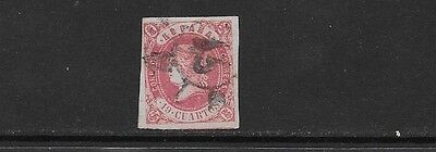 SPAIN. 1862. ISABELLA. LOVELY USED EXAMPLE OF KEY 19c. PLEASE SEE BOTH SCANS.