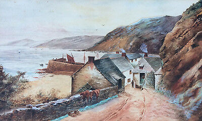 Mid 19th Century Watercolor on Paper Painting, Unsigned