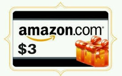 Amazon Gift Card $ 3.00 (email delivery)