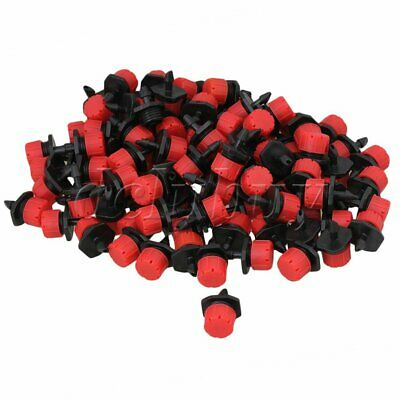 100 x Micro Drip Irrigation Watering Drippers Sprinklers Emitter Potted Plant