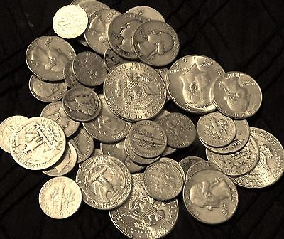$6 Face 90% old U.S silver Coins silver Quarters & Dimes silver Half Dollars