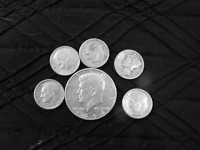 $1 Face Value - 90% Silver U.S. Coin Lot - Half Dollars, Quarters or Dimes