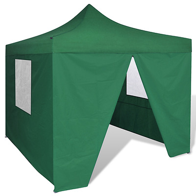 New 3x3m Green Outdoor Gazebo Folding Wall Tent Canopy Marquee Pop Up Wedding