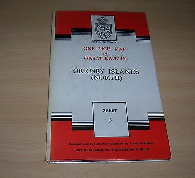 Ordnance Survey One-Inch Special Library Ed.-Sheet 5 Orkney Islands North (1958)