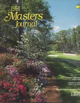 1991-55th US MASTERS-IAN WOOSNAM-WALES-@AUGUSTA-OFFICIAL GOLF PROGRAMME-JOURNAL