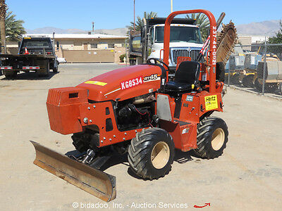 2011Ditch Witch RT45 4x4 Ride-On Hydraulic Trencher Side Shift 4-Way Blade