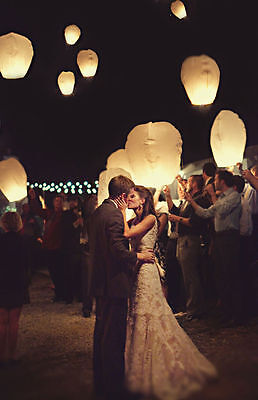 Paper Chinese Lanterns Sky Fire Fly Candle Lamp for Wish Party Wedding LC04
