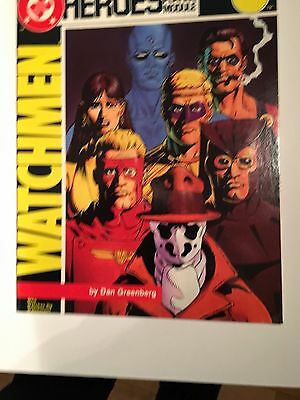 """DC HEROES ROLEPLAYING SUPPLEMENT - Watchmen """"Who Watches the watchmen"""" RPG OOP"""