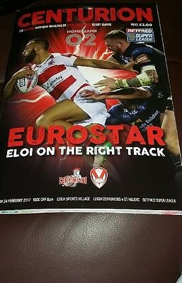 2017-Leigh Centurions V St Helens-24/2/17-Rugby Super League Programme