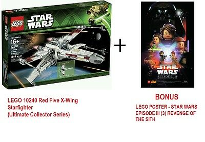 LEGO-10240-Star-Wars-UCS-Red-Five-X-Wing-Starfighter-MELB-PICK-UP (Brand New)